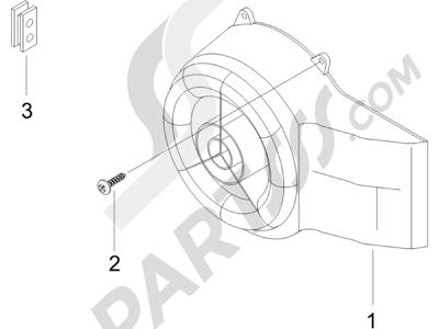 Piaggio NRG Power DT Serie Speciale (D) 2007 Tapa volante magnetico - Filtro de aceite