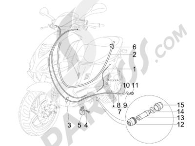 Piaggio NRG Power DT Serie Speciale (D) 2007 Transmisiónes
