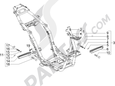 Piaggio NRG Power DT Serie Speciale 2007-2012 Chasis carrocería