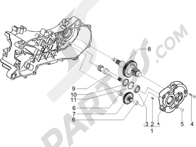Piaggio NRG Power DT Serie Speciale 2007-2012 Grupo reductor