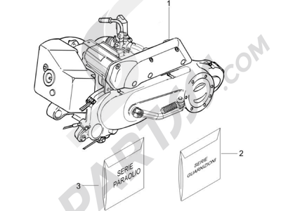 Piaggio NRG Power DT Serie Speciale 2007-2012 Motor completo