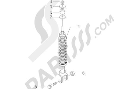 Piaggio NRG Power DT Serie Speciale 2007-2012 Suspensión trasera - Amortiguador es