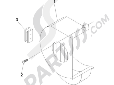 Piaggio NRG Power DT Serie Speciale 2007-2012 Tapa volante magnetico - Filtro de aceite