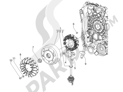 Piaggio NRG Power DT Serie Speciale 2007-2012 Volante magnetico
