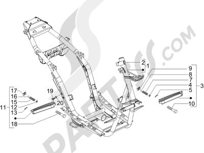 Piaggio NRG Power Pure Jet 2010-2011 Chasis carrocería