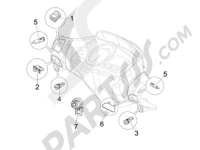Piaggio NRG Power Pure Jet 2010-2011 Conmutadores - Conmutadores - Pulsadores - Interruptores