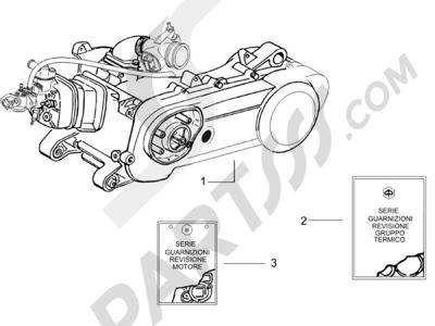 Piaggio NRG Power Pure Jet 2010-2011 Motor completo