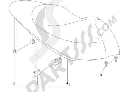 Piaggio NRG Power Pure Jet 2010-2011 Sillín asientos - Bolsa herramienta