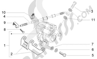 Piaggio NRG Power Purejet 1998-2005 Pinza del freno trasera