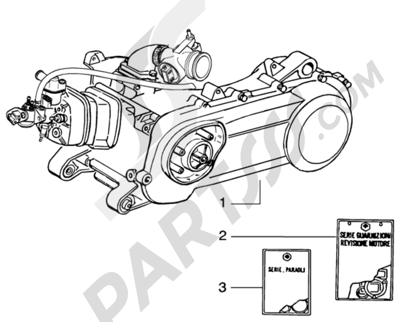 Piaggio NRG Purejet 1998-2005 Motor