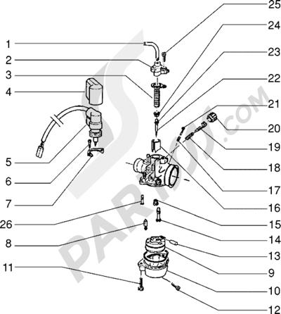 Piaggio NTT 1998-2005 Carburador