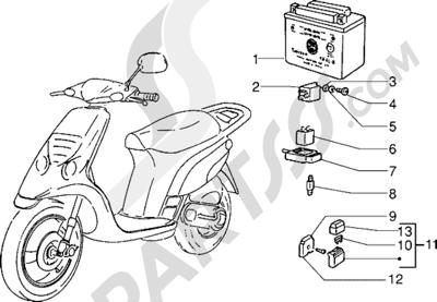 Piaggio NTT 1998-2005 Dispositivos electricos