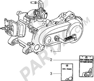 Piaggio NTT 1998-2005 Motor