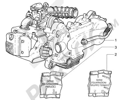 Piaggio Sfera 125cc HASTA 1997 Motor