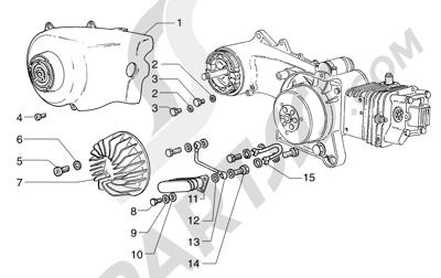 Piaggio Sfera 125cc HASTA 1997 Radiador aceite