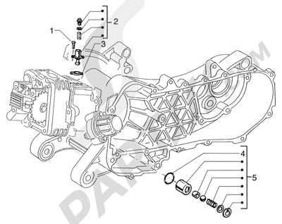 Piaggio Sfera 125cc HASTA 1997 Tensor de cadena