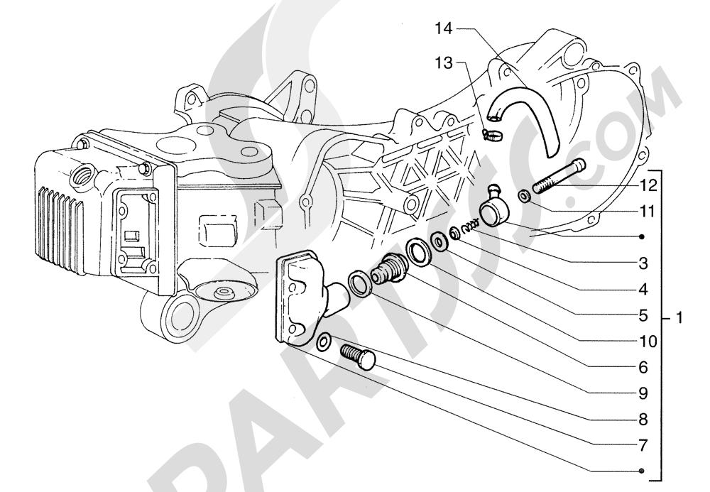 Piaggio Sfera 125cc HASTA 1997 Válvula resp.aceite