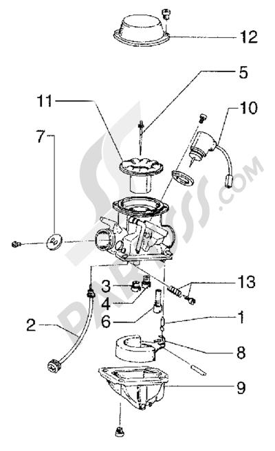Piaggio Sfera RST 125 1998-2005 Carburador