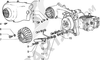 Piaggio Sfera RST 125 1998-2005 Coraza refrigeración - Radiador de aceite