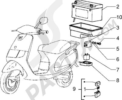 Piaggio Sfera RST 125 1998-2005 Dispositivos electricos