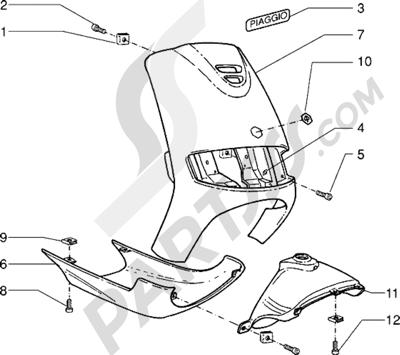 Piaggio Sfera RST 125 1998-2005 Escudos-Mascara