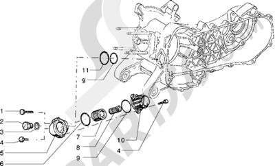 Piaggio Sfera RST 125 1998-2005 Filtro de aceite