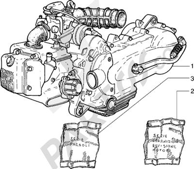 Piaggio Sfera RST 125 1998-2005 Motor