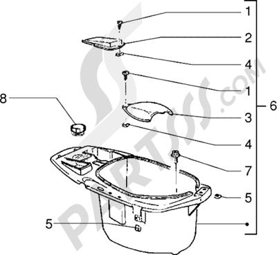 Piaggio Sfera RST 125 1998-2005 Porta casco
