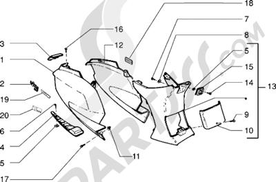 Piaggio Sfera RST 125 1998-2005 Protecciones laterales