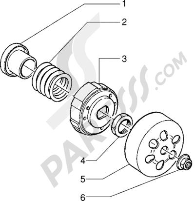 Piaggio Sfera RST 125 1998-2005 Semipolea extensible