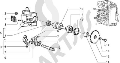 Piaggio Sfera RST 125 1998-2005 Soporte brazo oscilante