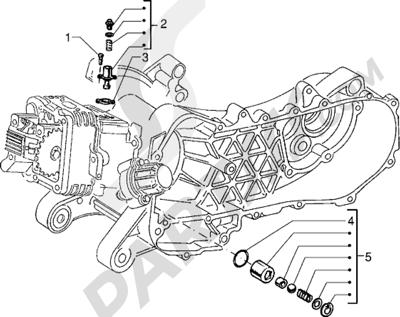 Piaggio Sfera RST 125 1998-2005 Tensor de cadena - Válvula by-pass