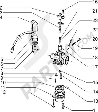 Piaggio Sfera RST 50 1998-2005 Carburador