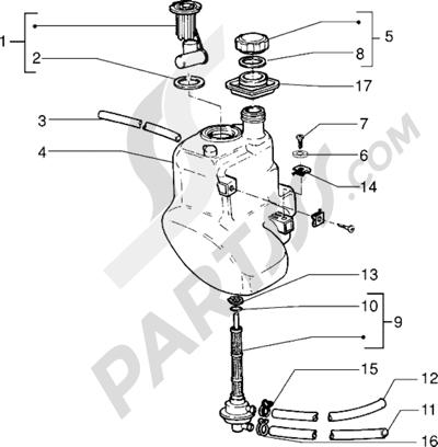 Piaggio Sfera RST 50 1998-2005 Tanque carburante