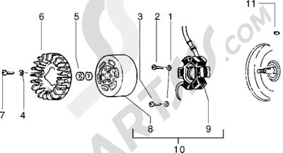 Piaggio Sfera RST 50 1998-2005 Volante magnetico