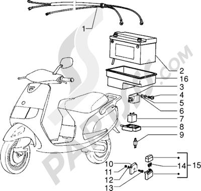 Piaggio Sfera RST 80 1998-2005 Dispositivos electricos