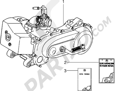 Piaggio Sfera RST 80 1998-2005 Motor
