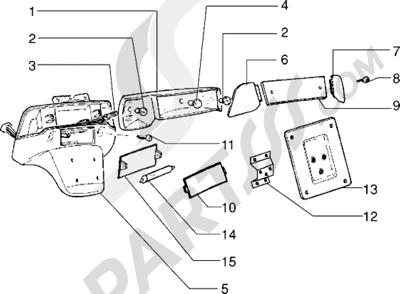 Piaggio Sfera RST 80 1998-2005 Piloto