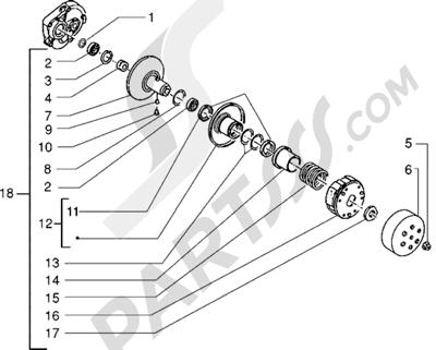 Piaggio Sfera RST 80 1998-2005 Polea conducida