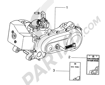 Piaggio Skipper 125/150cc HASTA 1997 Motor