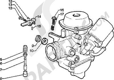 Piaggio Skipper 125 4T 1998-2005 Carburador