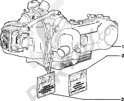 Piaggio Skipper 125 4T 1998-2005 Motor