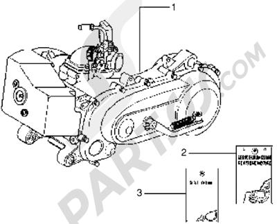 Piaggio Skipper 125 MY98 1998-2005 Motor