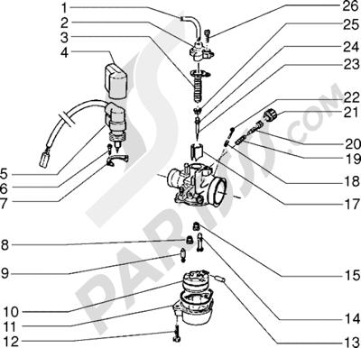 Piaggio Skr City 1998-2005 Carburador