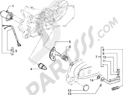 Piaggio Skr City 1998-2005 Motor de arranque-Palanca de arranque