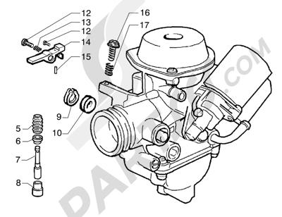 Piaggio Super Exagon GTX 12 HASTA 1997 Carburador