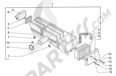 Piaggio Super Exagon GTX 12 HASTA 1997 Filtro aire