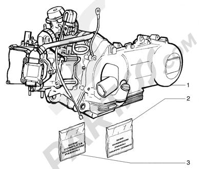 Piaggio Super Exagon GTX 12 HASTA 1997 Motor