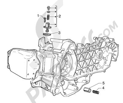 Piaggio Super Exagon GTX 12 HASTA 1997 Tensor de cadena