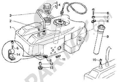 Piaggio Super Hexagon GTX 125 1998-2005 Deposito carburante